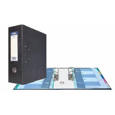 Папка-регистратор А4, Classic HC два механизма, торцевой карман корешок 125 мм, цвет черный