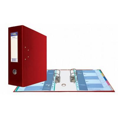 Папка-регистратор А4, Classic HC два механизма, торцевой карман корешок 125 мм, цвет красный