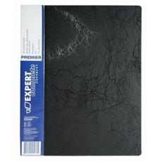 Папка скоросшиватель А4, корешок 20, пластик 0.55, карманы, черная