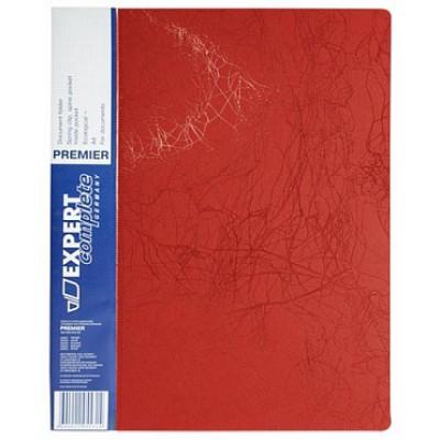 Папка скоросшиватель А4, пластик 0.70, красная, карманы, корешок 20, красная