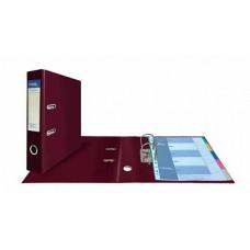 Папка-регистратор А4, обложка двусторонний PVC, 75 мм, арочный мех., бордовая