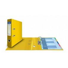 Папка-регистратор А4, обложка двусторонний PVC, 75 мм, арочный мех., желтая
