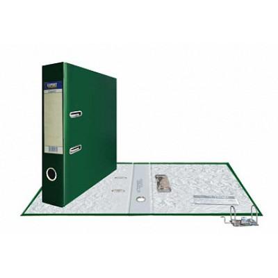 Папка-регистратор А4, обложка PVC, корешок 75, торц. карман, разборный мех., цвет изумрудный