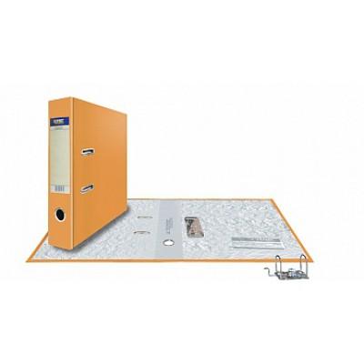 Папка-регистратор А4, обложка PVC, корешок 75, торц. карман, разборный мех., цвет оранжевый