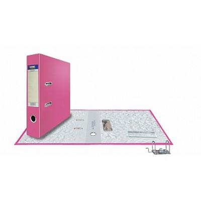 Папка-регистратор А4, обложка PVC, корешок 75, торц. карман, разборный мех., цвет розовый