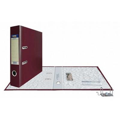 Папка-регистратор А4, обложка PVC, корешок 75, торц. карман, разборный мех., цвет вишневый