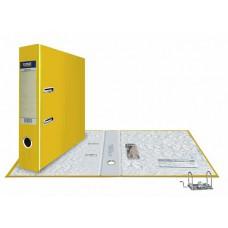 Папка-регистратор А4, обложка PVC, разборный мех., 75 мм, желтая