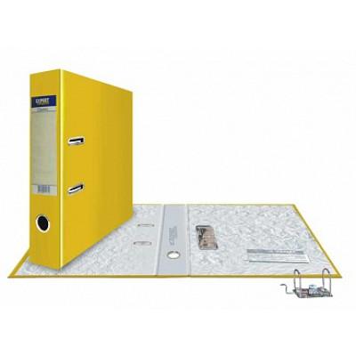 Папка-регистратор А4, обложка PVC, корешок 75, торц. карман, разборный мех., цвет желтый