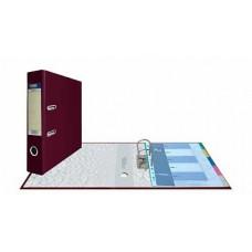 Папка-регистратор А4, обложка PVC, арочный мех., 75 мм, бордовая