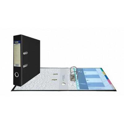 Папка-регистратор А4, обложка PVC, корешок 75, торц. карман, арочный мех., цвет черный