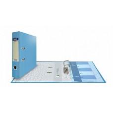 Папка-регистратор А4, обложка PVC, арочный мех., 75 мм, голубая