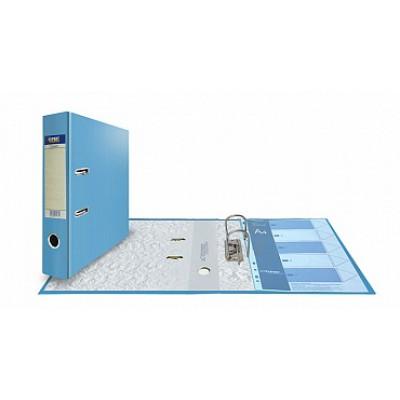 Папка-регистратор А4, обложка PVC, корешок 75, торц. карман, арочный мех., цвет голубой