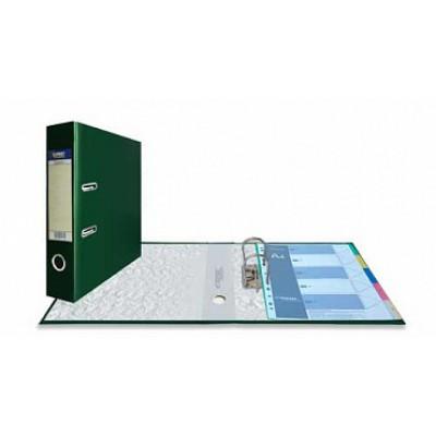 Папка-регистратор А4, обложка PVC, корешок 75, торц. карман, арочный мех., цвет изумрудный
