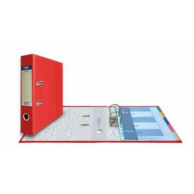 Папка-регистратор А4, обложка PVC, корешок 75, торц. карман, арочный мех., цвет красный