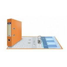 Папка-регистратор А4, обложка PVC, арочный мех., 75 мм, орнажевая