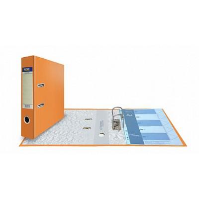 Папка-регистратор А4, обложка PVC, корешок 75, торц. карман, арочный мех., цвет оранжевый