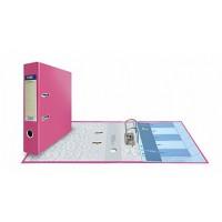 Папка-регистратор А4, обложка PVC, арочный мех., 75 мм, розовая