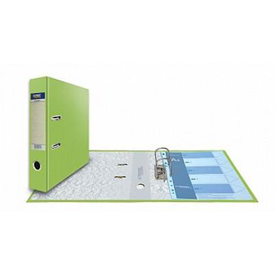 Папка-регистратор А4, обложка PVC, корешок 75, торц. карман, арочный мех., цвет салатовый