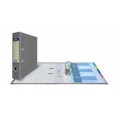 Папка-регистратор А4, обложка PVC, арочный мех., 75 мм, серая