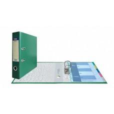 Папка-регистратор А4, обложка PVC, арочный мех., 75 мм, зеленая