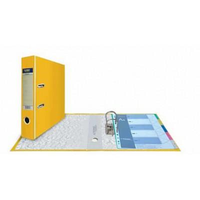 Папка-регистратор А4, обложка PVC, корешок 75, торц. карман, арочный мех., цвет желтый
