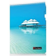 Папка-уголок А4, серия Riviera Paradis, пластик 180 мкм