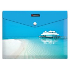 Папка с кнопкой Pierre Cardin Riviera Paradis, формат А4, пластиковая 180 мкм