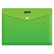 Папка с кнопкой Pierre Cardin Geometrie Green, формат А4, пластиковая 180 мкм