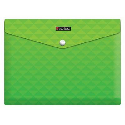 Папка-конверт на кнопке А4, пластик 180 мкм с печатью