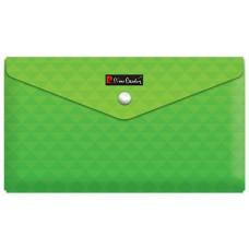 Папка с кнопкой Travel Geometrie Green, пластиковая 180 мкм