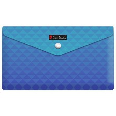 Папка с кнопкой Travel Geometrie Blue, пластиковая 180 мкм