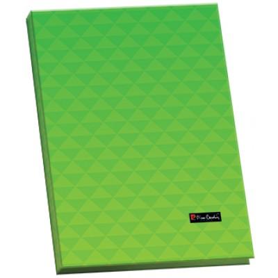 Папка с боковым прижимом, пластик, Geometrie Green, А4