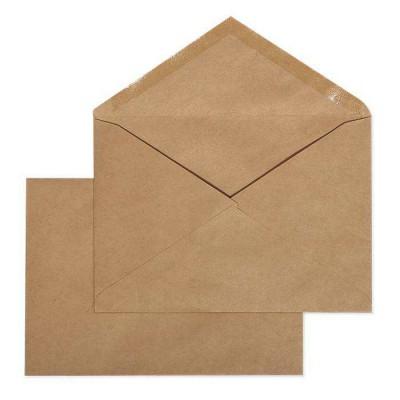 Крафт конверт С6 114х162, корич. крафт, треуг. клапан, декстрин