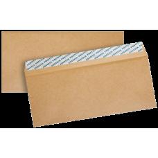 Крафт конверт Е65 110х220 мм, прямой клапан, лента