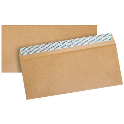 Крафт конверт С6 114х162, клапан прямой, лента, почтовый