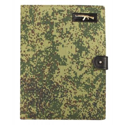Еженедельник недатированный, формат А4, размер 200х260 мм, военный принт - пиксели или лесной