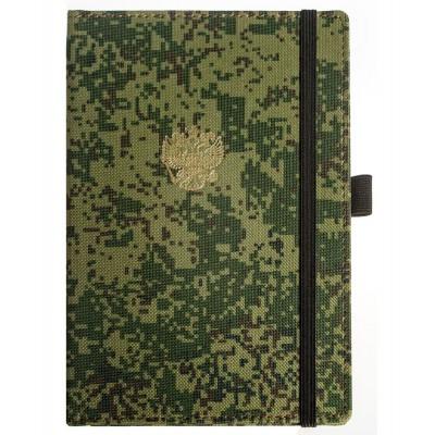 Недатированный ежедневник, формат А5, размер 140*200 мм, военный принт - пиксели