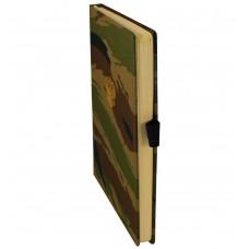 Ежедневник MILITARY, А5, камуфляжная ткань, принт лесной