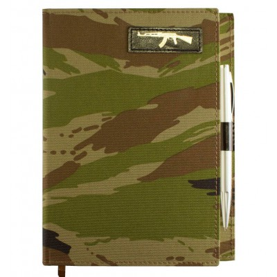 Планер ежедневник 140*200 мм, формат А5, недатированный, военный принт - лесной