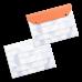 Папка-конверт с 2-мя кнопками из экокожи