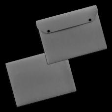 Папки-конверты на 2-х кнопках из экокожи, формат А5 / А4
