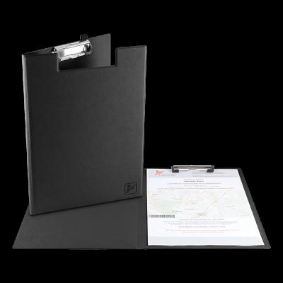 Папка-планшет А4 с крышкой, зажим сверху, экокожа