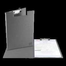 Папка-планшет с крышкой и зажимом, экокожа, формат А4