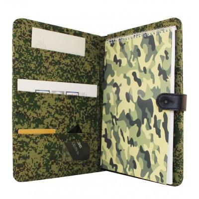 Армейская папка-планшет, формат А4, размер 230х325 мм, военный принт - пиксели или лесной
