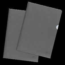 Папки-уголки из экокожи, формат А4