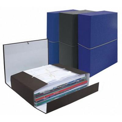 Папка короб архивная А4, картон, корешок 80 мм, цвет синий