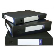 Архивная папка-короб на резинке, пластик, торец 55 мм, Classic чёрная