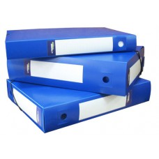Архивная папка-короб на резинке, пластик, торец 75 мм, Classic синяя