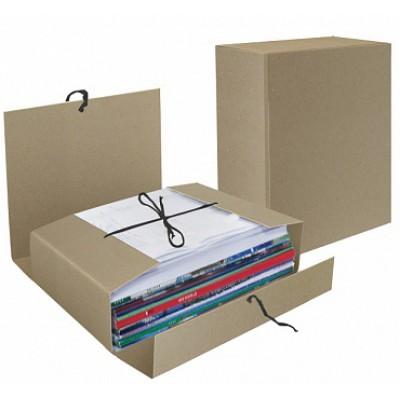 Папка короб архивная А4, на завязках, переплётный картон, торец 110 мм
