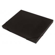 Папка-короб на резинке, пластиковая, торец 15 мм, Premier чёрная
